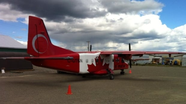 This Dornier 228 adorned with the Canadian flag belongs to Nomad Air.  It's mostly used as a charter for the mining industry but owner Dale Panchyshyn plans to fly it over Whitehorse on Canada Day.