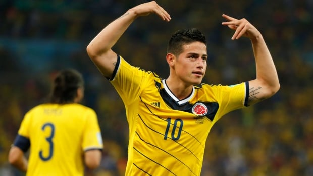 Colombia's James Rodriguez has been one of the breakout stars at this year's FIFA World Cup.