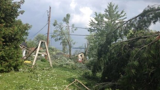 Damage from July 1, 2014 storm in Quyon, Que., about 50 kilometres northwest of Parliament Hill in Ottawa.