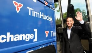 Tim Hudak on the campaign trail in 2011