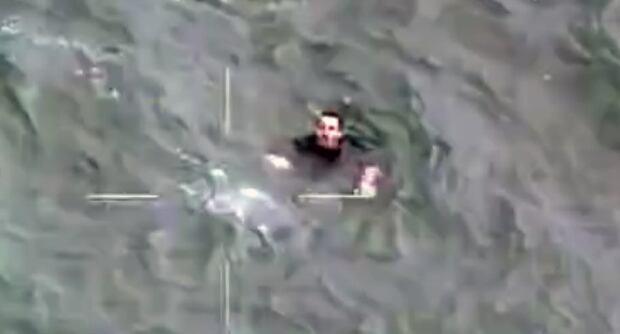 Canoeist being rescued near Bellingham, Wash.