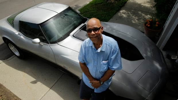 George Talley, 71, poses with his 1979 Chevrolet Corvette in Detroit on July 1. Talley had believed the sports car was long gone after he parked it in Detroit in 1981 and it was stolen. On June 13, 2014 he received a  phone call from an auto insurer telling him his car was at a police station in Mississippi.