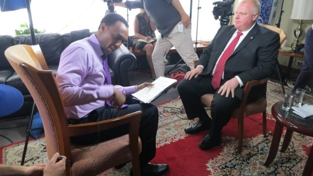 The CBC's Dwight Drummond spoke to Mayor Rob Ford on Wednesday, asking the city's chief magistrate questions about the drug and alcohol use that led him to rehab.