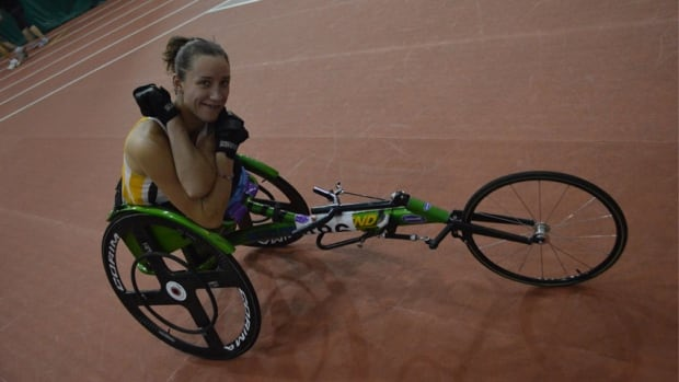 Yukon's Jessica Frotten hopes to race in the 2016 Paralympics in Rio de Janeiro. She finished second in the 200, 400 and 800 metre wheelchair races at the Canadian National Track and Field Championships in Moncton, N.B.