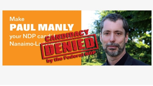 Paul Manly's Facebook page contains this image about his bid for NDP candidacy.