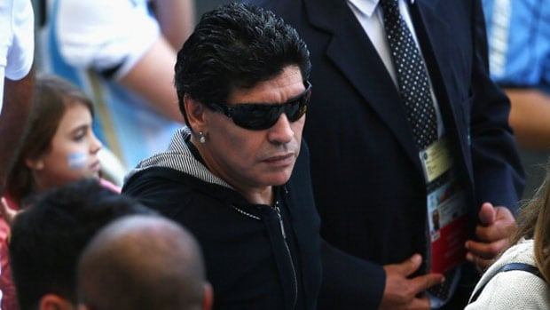 Argentina's soccer legend Diego Maradona gave withering analysis of the team's performances so far at the World Cup in Brazil.