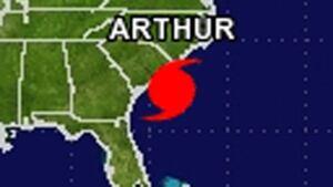 Hurricane Arthur location