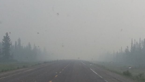 Smoke from wildfires is reducing visibility on N.W.T. Highways 1, 3 and 4.