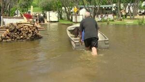 Crooked Lake flood 2014