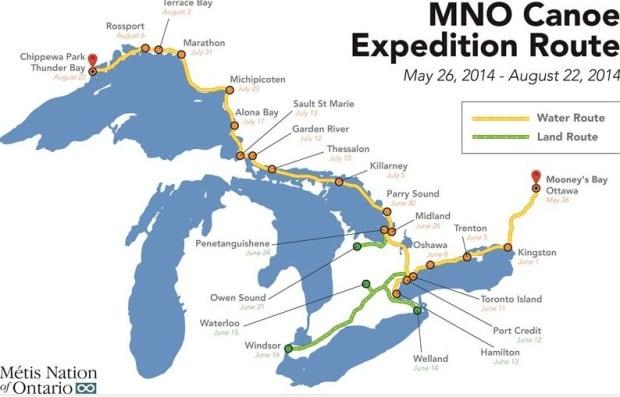 Métis Nation of Ontario canoe expedition