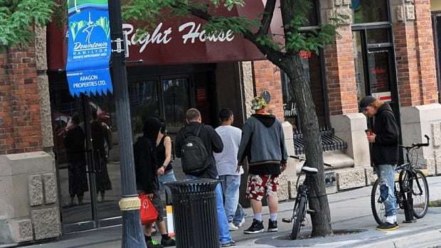 The property manager of The Right House at the corner of King Street East and Hughson says she's fed up with loitering, spitting and drug dealing outside the historic building.