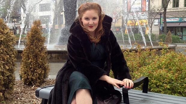Megan Janssen, dressed as Evelyn Dick, will make her formal debut at the Hamilton Fringe Festival.