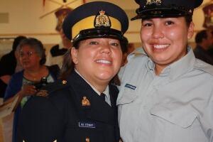 Corporal Dee Stewart and Cadet, Elizabeth Gottfriedsen (kamloops, bc)