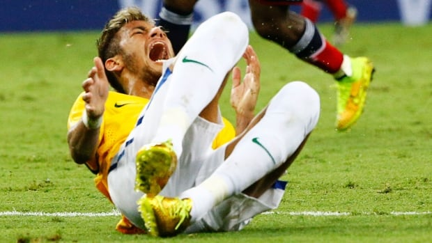 Neymar's injury was the biggest thing to happen on Friday at the FIFA World Cup in Brazil. (Stefano Rellandini/Reuters)