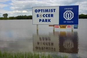 Optimist soccer park, July 2, 2014