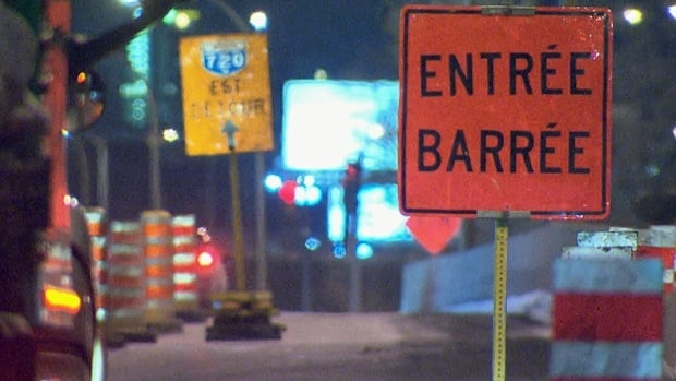 Some road closures in Montreal this weekend will be in effect during the daytime.