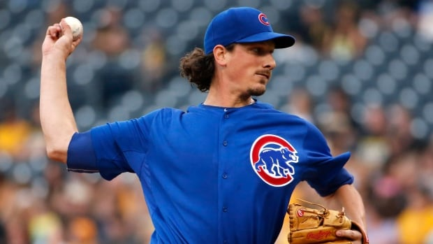 Chicago Cubs starting pitcher Jeff Samardzija delivers during the first inning of a baseball game against the Pittsburgh Pirates on June 12.