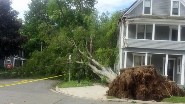 Damage after post-tropical storm Arthur in July, 2014.