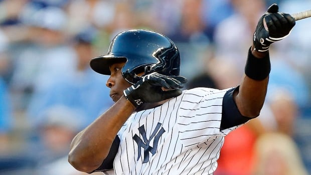 Yankees outfielder Alfonso Soriano, who is in the final year of an eight-year, $136 million US deal he signed with the Chicago Cubs, was designated for assignment on Sunday. He hit .221 with six home runs in 67 games this season.