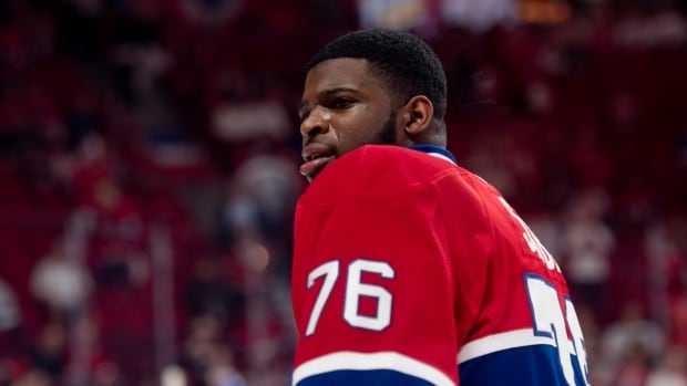 Montreal Canadiens defenceman P.K. Subban, seen during a playoff game in May, held out on his previous two-year contract.