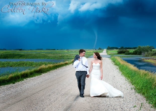 Saskatchewan tornado wedding Colleen Niska