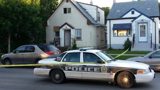 Police investigate a home on the 700 block of Redwood Avenue.