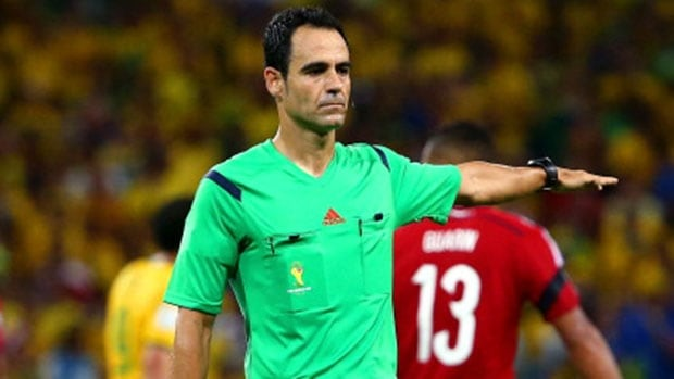 Critics say referee Carlos Velasco lost control of the quarter-final match between Colombia and Brazi last Friday.