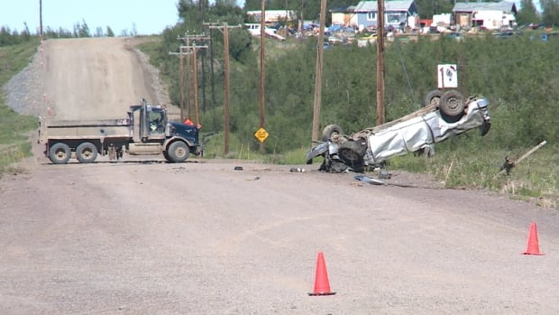 One person is dead following a single-vehicle rollover in Inuvik in the early hours of July 6.