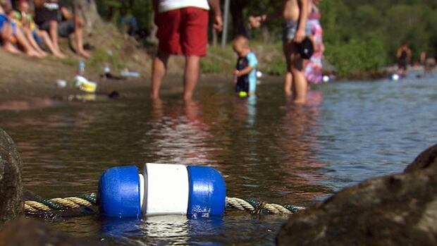 The Sherbrooke municipal beach in Quebec's Eastern Townships. Sherbrooke began doing its own water-quality testing after a girl almost died after contracting an E. coli infection.