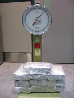 12 kilograms of 'suspected cocaine' seized at Pearson