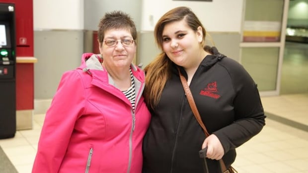 Hope Air client Trinity Cardiff, 13, and her mom Luanna at Pearson Airport in 2014 en route to medical treatment at SickKids hospital. The pair reside in Schreiber, Ont.