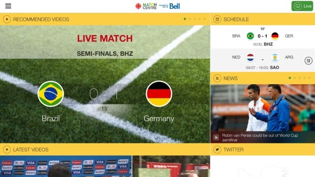 CBC's FIFA World Cup app has received more than 1 million downloads since launching in early June.