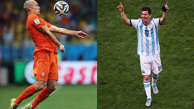 Arjen Robben, left, for the Netherlands and Argentina's Lionel Messi have been two of the most exciting players to watch at the FIFA World Cup in Brazil.
