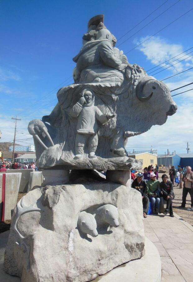 NTI land claim 20th anniversary sculpture