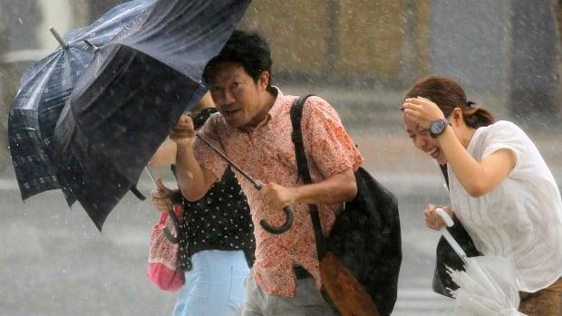Typhoon Neoguri brought heavy wind and rain to Japan's southern island of Okinawa.