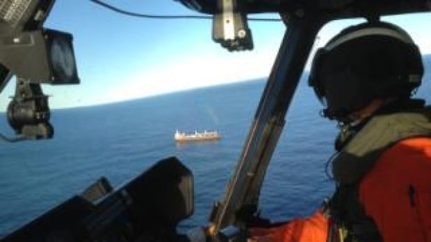 The Joint Rescue Coordination Centre in Halifax tasked a Cormorant helicopter from Gander on Tuesday afternoon to airlift an injured crew member from a container ship north of Hopedale.