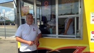 Food truck operator Michel Uberall on Mountain Road
