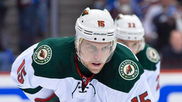 Dany Heatley, seen in a playoff game in April, spent three seasons with the Minnesota Wild.