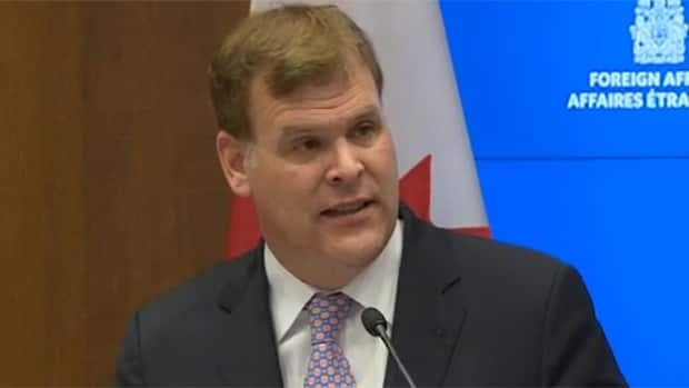Canada's foreign affairs minister on Hamas rockets RAW