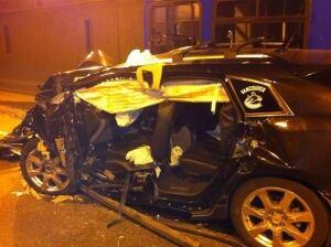Massey Tunnel bus SUV crash