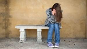 anxious teen