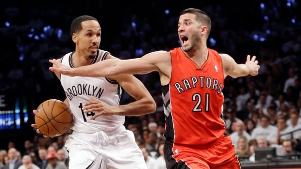 Toronto Raptors guard Greivis Vasquez is shown during Game 6 of their playoff series with Brooklyn.