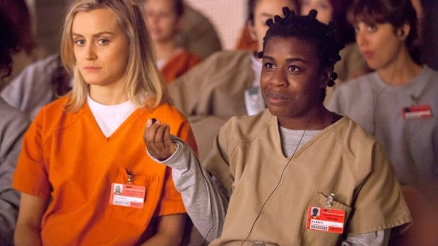 Taylor Schilling and Uzo Aduba in Orange is the New Black. The second season became the most-watched series in all territories one month after its release.