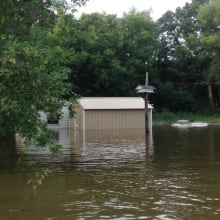 Flooded shed