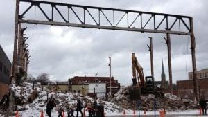 Paramount Theatre demolition