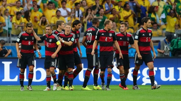 """German players revealed that when they went into the dressing room at halftime of their 7-1 total destruction of Brazil on Tuesday, they made a pact to not """"humiliate"""" the hosts."""