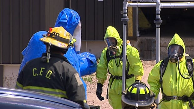 The P.E.I. hazardous materials team had the ammonia spill in Winsloe cleaned up by early afternoon.