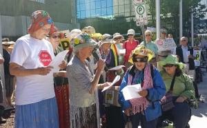 Raging Grannies protest TPP talks