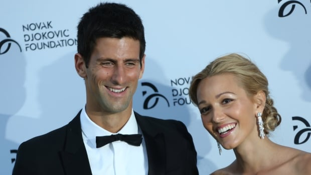 Novak Djokovic and longtime girlfriend Jelena Ristic, seen here at a gala in England last July, were married in a private ceremony in Montenegro on Thursday. Authorities in Montenegro have sealed off Milocer and Sveti Stefan resorts to grant privacy.