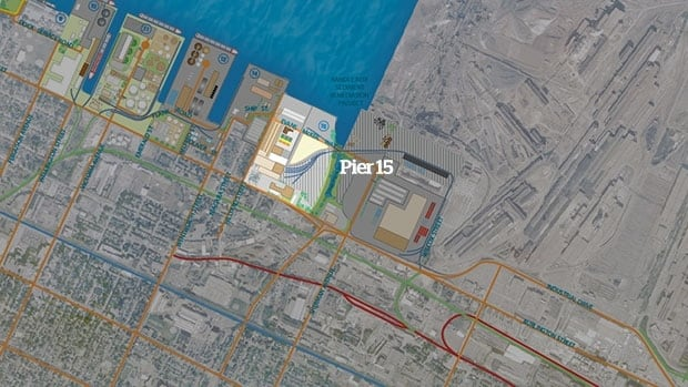 This map shows the proposed port location of the gasification plant.